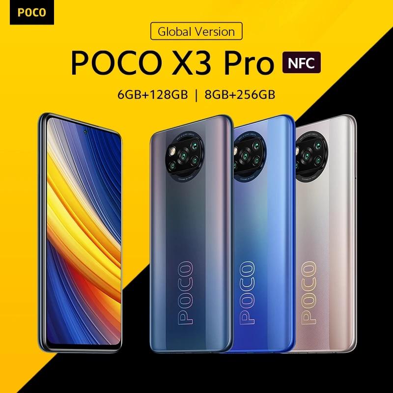 [World Premiere In Stock] POCO X3 Pro Global Version Snapdragon 860 Smartphone 120Hz DotDisplay 5160mAh 33W NFC Quad AI Camera