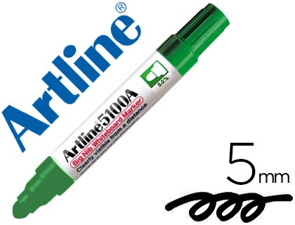 MARKER ARTLINE SLATE EK-5100 GREEN-ROUND TOE 5 MM 6 Units