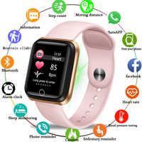Reloj inteligente LIGE para mujer, pulsera inteligente para la salud, función de presión arterial, banda inteligente, resistente al agua, deporte para iPhone + caja