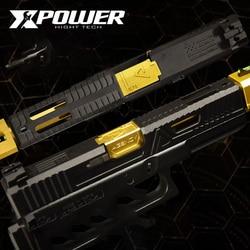 XPOWER ساي TM systerm GLOCK17/34 نايلون Silde حزمة ترقية سوبر خفيفة الوزن Kublai التحكم لينة مسدس هواء خرطوشة الملحقات