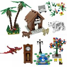 Creator City MOC Series zabawki dla dzieci prezenty dla przyjaciół zwierzęta rośliny Tress dinozaur akcesoria kompatybilne klocki