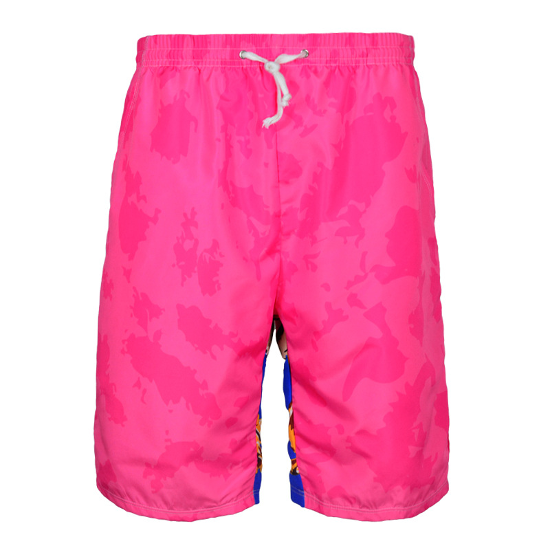 2019 South Korea Cool Pattern Beach Shorts Men's Quick-Dry Loose-Fit Gradient Swimming Trunks Bubble Hot Spring Shorts