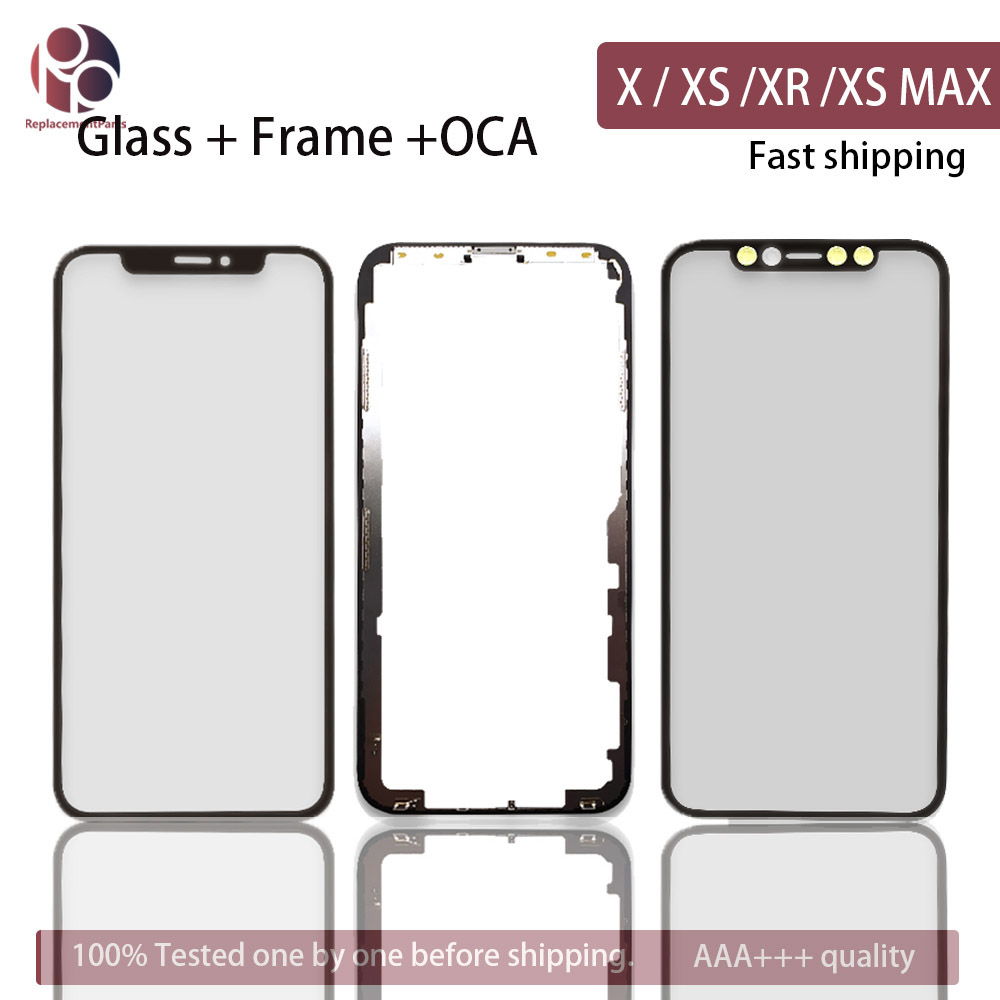 Front Screen Outer Glass Frame Bezel OCA For IPhone X / XS / XR / XS MAX XSM Screen Glass Replacement Repair Part