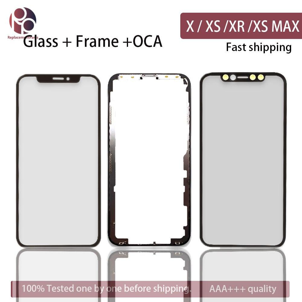 Front Screen Outer Glass Frame Bezel OCA For IPhone X / XS / XR / XS MAX XSM Screen Glass Replacement Repair Part