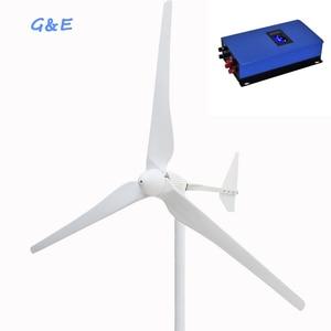 Image 1 - 2KW Wind Generator 48V Windturbine Met Op Grid 2000W Omvormer