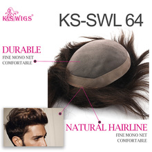 WIGS Hairpieces Toupee Looking-Hairline Human-Hair-Replacement-System Natural Durable