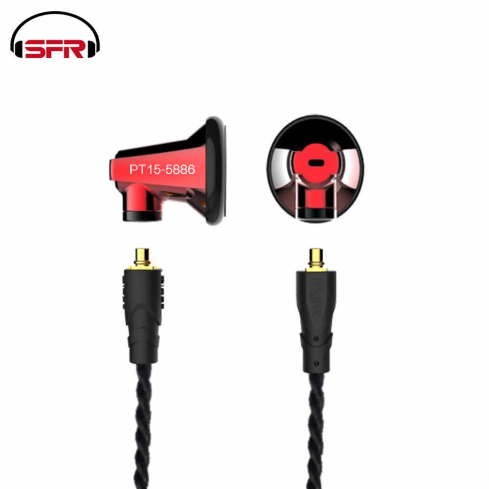 SENFER PT15 grafenu jednostka zestaw słuchawkowy, które można przekazywać kabel z mikrofonem ciężki bas słuchawki muzyka uniwersalny DT6 DT8 IE80 ZSN PT25 T2 IE80