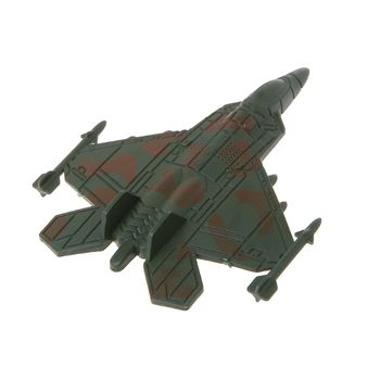 Plastic Military Airplane Fighter Model Kids Simulation Plane Toy Collection Decoration image