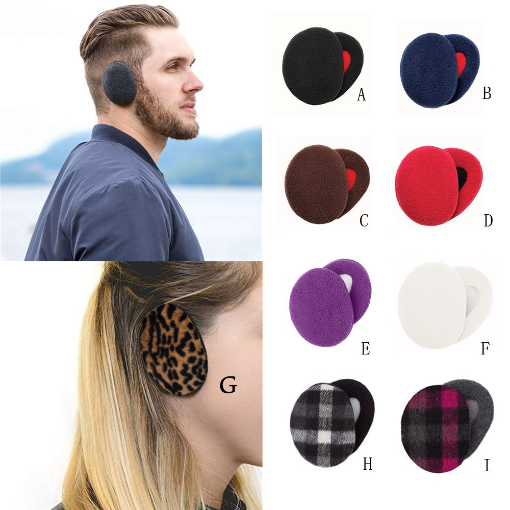 Warm Ear Muffs Autumn Winter 1Pair Cover Adult Women Men Earbags Bandless Ear Warmers Simple Comfort Earmuffs Earmuffs Ear Cover