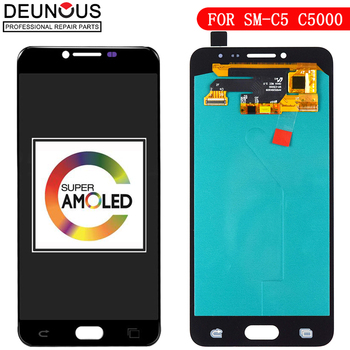 New 5.2'' Super EDO AMOLED LCD Display for SAMSUNG Galaxy C5 LCD Display C5000 LCD Touch Screen Digitizer Replacement Parts