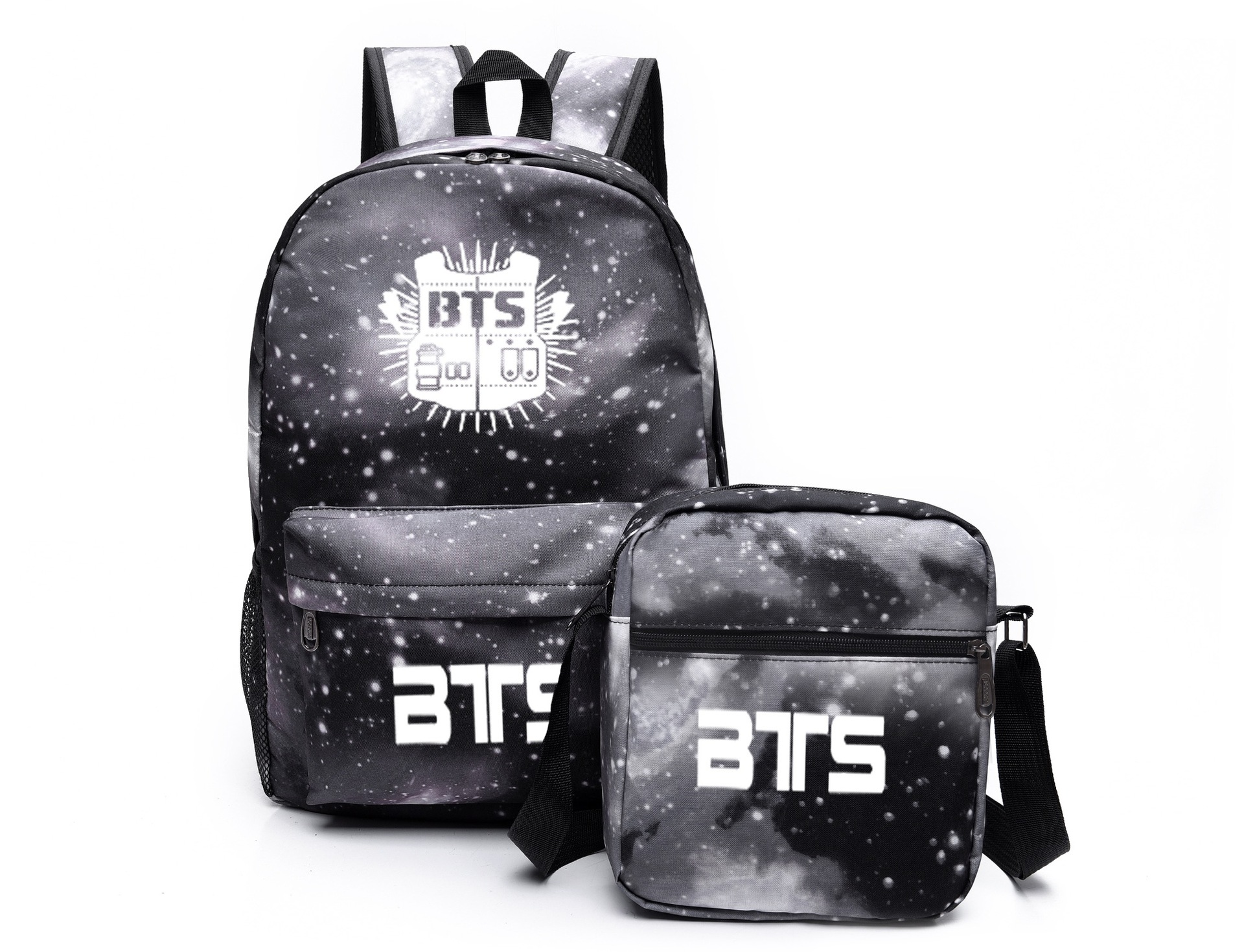 BTS Celebrity Inspired Starry School Bag Korean-style Men's And Women's Canvas Backpack Send Bag