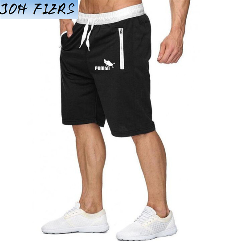 Shorts Mens Bermuda 2019 Summer Beach Men Shorts Pumba Letter Print Male Brand Men'S Short Casual Fitness Jogger Plus Size 2XL