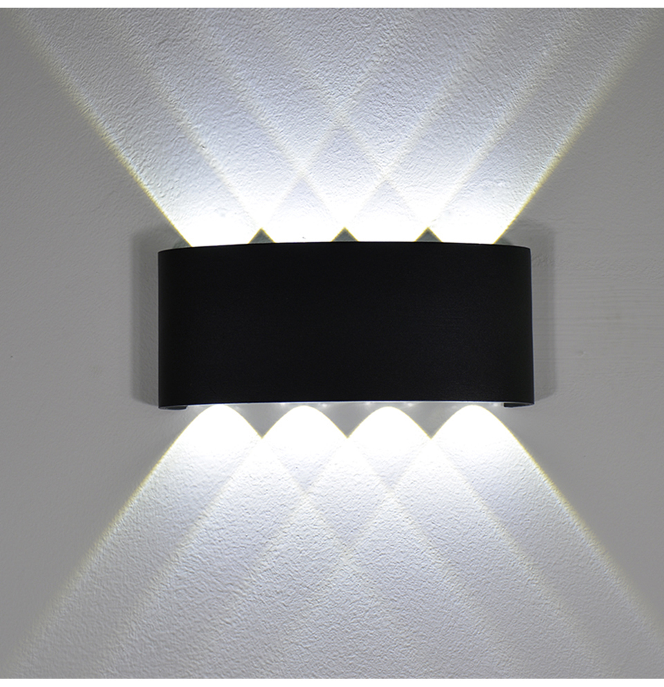 NEUE Wand Lampe Led Aluminium Outdoor Indoor Ip65 Up Down Weiß Schwarz Moderne Für Home Treppen Schlafzimmer Nacht Badezimmer Licht
