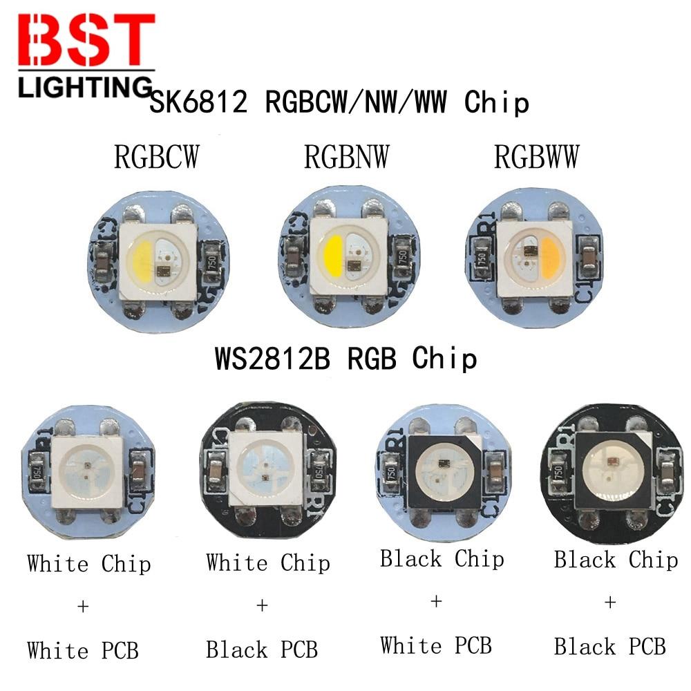 10 ~ 100 шт. WS2812B светодиодный индивидуально адресуемых WS2811 IC SK6812 RGBWW/RGBCW/RFBNW светодиодный радиатор 5050SMD RGB/RGBW встроенный DC5V