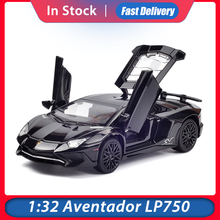1:32 סגסוגת מכוניות מודלים LP750 Diecast דגם כלי רכב רכב קול אור למשוך בחזרה רכב צעצוע בקנה מידה מיניאטורות מכוניות צעצועים
