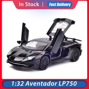 Image 1 - 1:32 Модели автомобилей из сплава LP750 литая под давлением модель автомобиля звуковой светильник для автомобиля игрушка для автомобиля миниатюрные Весы Модель Машинки Игрушки