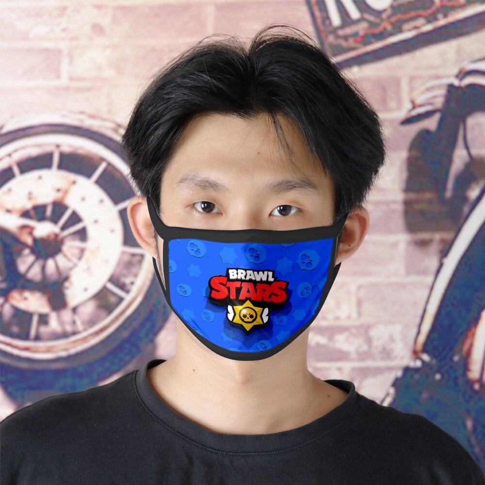 Brawl Stars Game Mouth Face Masks Cartoon Cotton Dustproof Face Mask  Keep Warm Women Men Cosplay Kids Toys Anime Mouth Masks