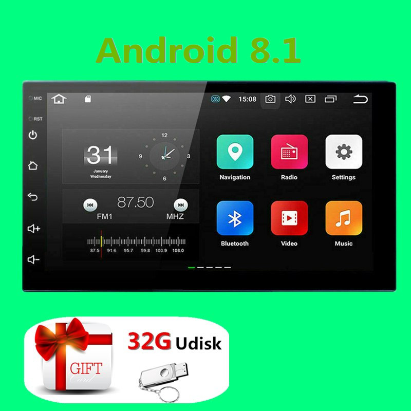 2Din Android Car Multimedia Player GPS Navigation 2 Din HD Autoradio WiFi USB FM 2 Din 7