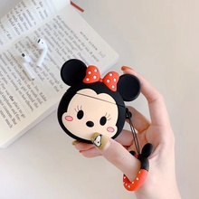 For AirPods 1/2 Case Cute Cartoon Earphone Cases Apple Airpods pro case Soft Protect Cover with Finger Ring Strap