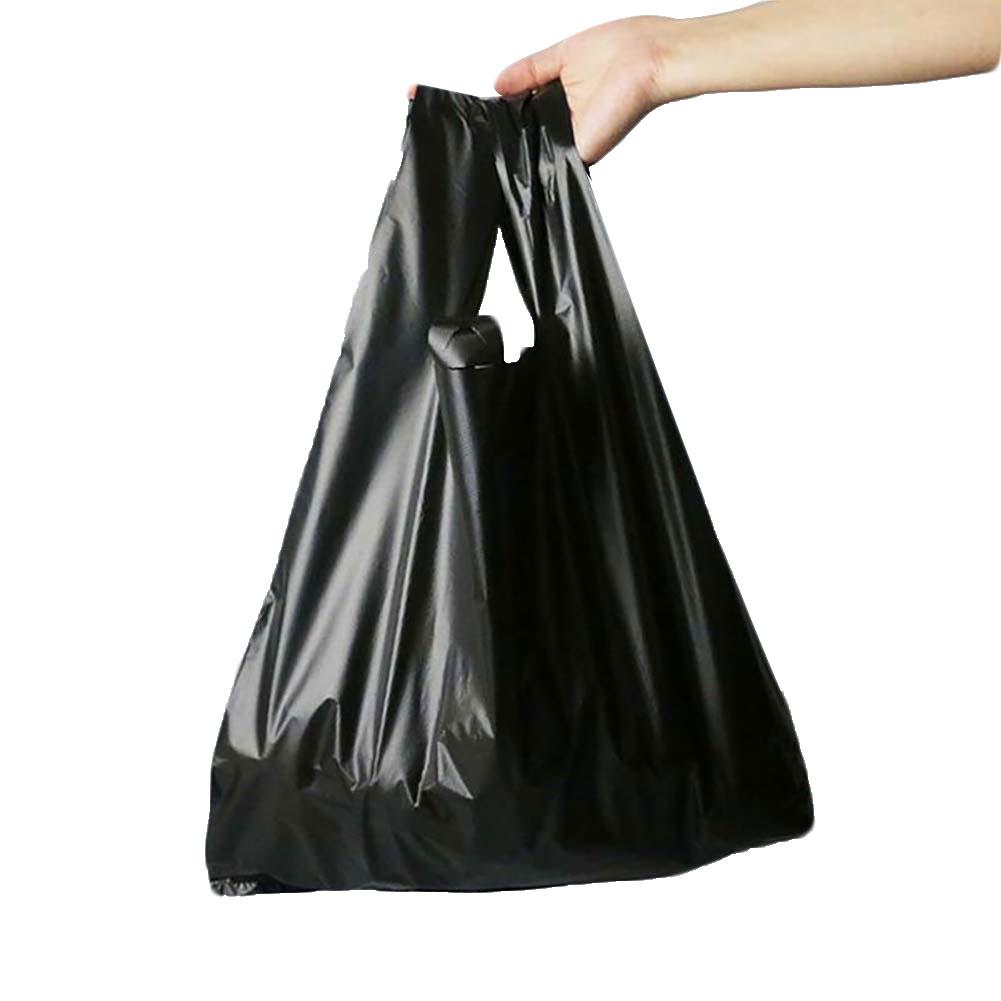 50Pcs Disposable Thicken Household Plastic Garbage Waste Trash Bags With Handle Garbage Bags Suitable For Office Home Daily Use