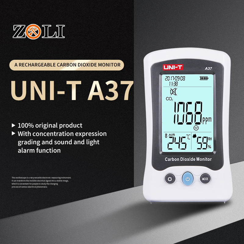 Sporting Digital Air Quality Detector Uni-t A37 Indoor/outdoor Hcho & Tvoc Tester Co2 Meter Monitor Tester With Rechargeable Battery Durable Service