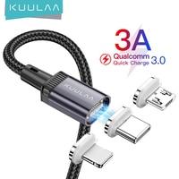 KUULAA cavo magnetico a LED cavo di ricarica USB tipo C magnete caricabatterie dati Micro cavi cavo cavo per telefono cellulare per cavo iPhone