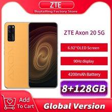 100% original versão global zte axon 20 5g celular 6.92 90 90 90hz oled 8gb 128gb snapdragon 765g 30w carga rápida
