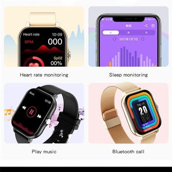 2021 New Women Smart watch Men 1.69″ Color Screen Full touch Fitness Tracker Bluetooth Call Smart Clock Ladies Smart Watch Women 5