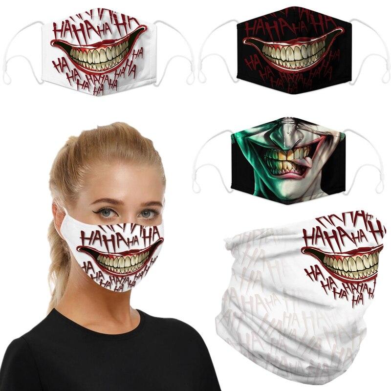 The Dark Knight Joker Motorcycle Cycling Neck Scarf Half Face Mask Bandana Headband Cosplay Adult Masks
