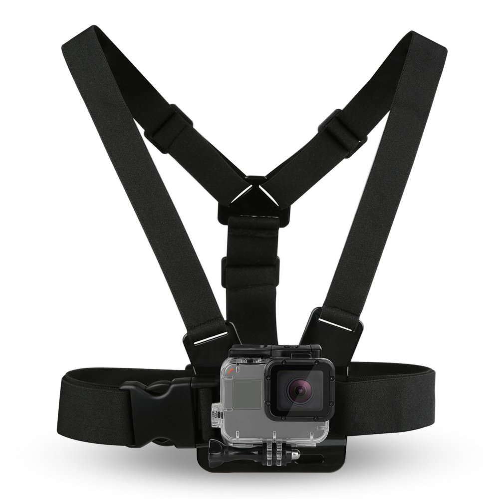 Black Durable Ultra Immersive Adjustable Harness Chest Strap Mount Chest Strap Mount Belt For Gopro Camera