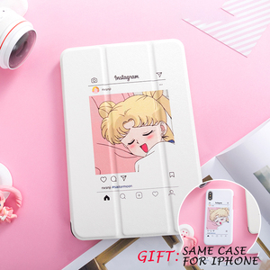 Sailormoon, funda con tapa magnética para iPad Pro 9,7 11 air 3 10,5 12,9 10,2 Mini 2 3 4 5 2019, funda para tableta para nuevo iPad 9,7 2017 2018