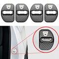 4 шт. автомобильный Стайлинг с рисунком из углеродного волокна, чехол для Dacia Sandero MK2 Stepway, автомобильная Защитная Пряжка, аксессуары