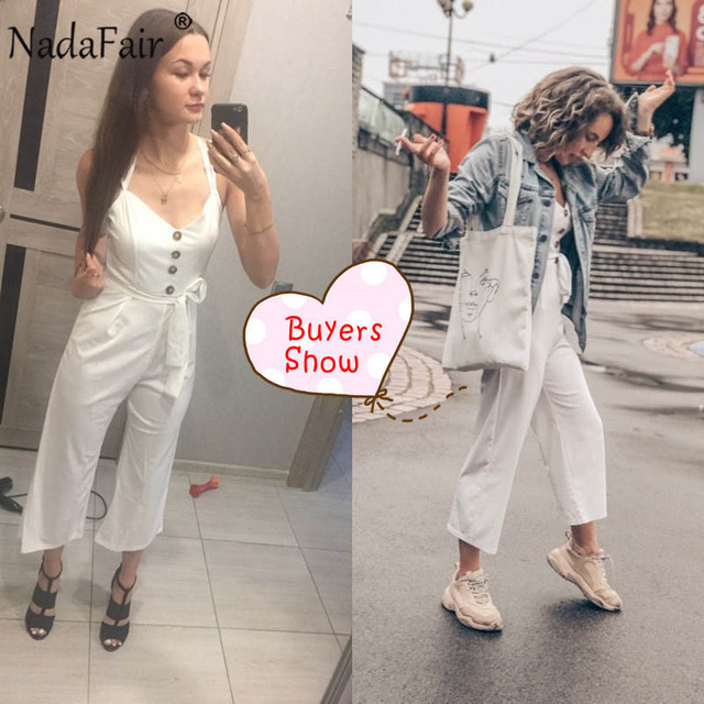 Backless Sexy Rompers Womens Jumpsuit 2019 Belt Elegant Bandage Plus Size Black White Jumpsuit Overalls Streetwear 4
