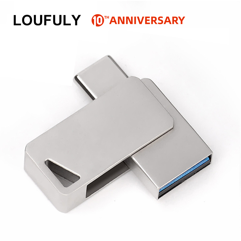 Rotation Type C OTG USB 3.0 Flash Drive 32GB 16GB 64GB 128GB USB C Pendrive 3.0 Type C Flash For Android Smart Phone Vivo