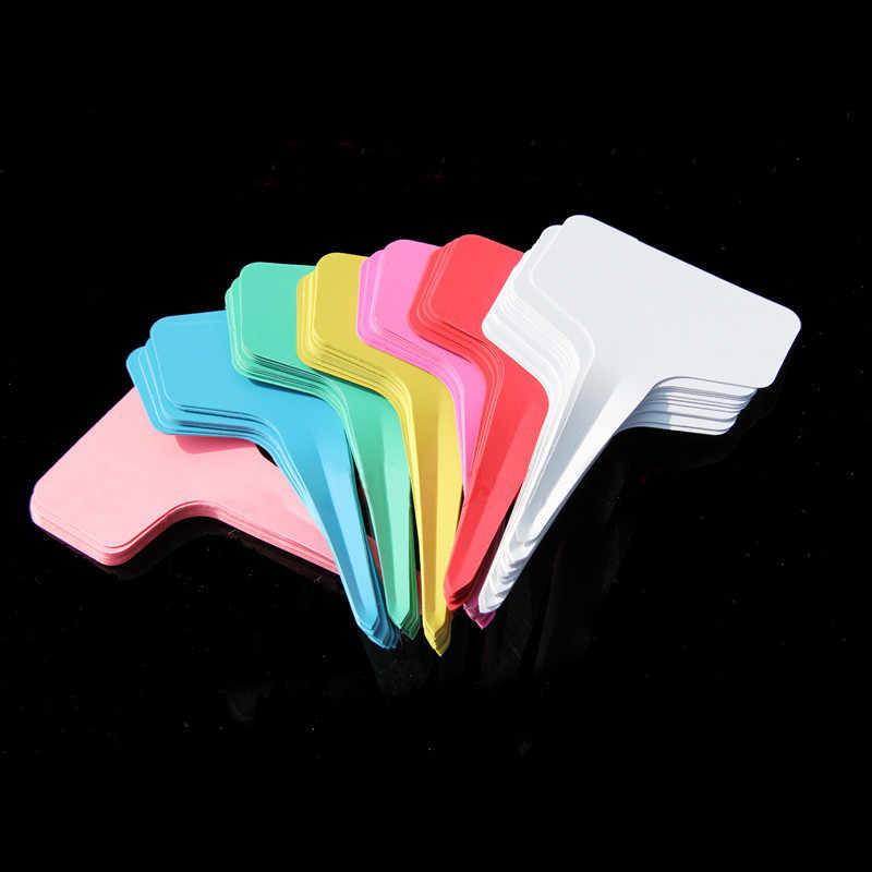 10 Taman Tanaman Label Tanaman Plastik T-jenis Tag Penanda Pembibitan Pot Dekorasi Taman Seedling Tray Mark Alat