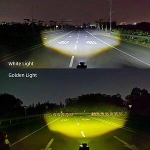 Image 4 - CNSUNNYLIGHT Mini Bi Farbe LED Projektor Objektiv Arbeit Licht Nebel Lichter 4X4 Offroad Auto Scheinwerfer Dual Strahl Moto Bike Scheinwerfer 12V