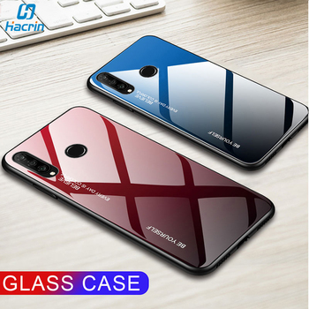 цена на Tempered Glass Case For Huawei Honor 20s Case Luxury Gradient Hard Back Cover For Honor 20s 20 s Case Full Protective Bumper