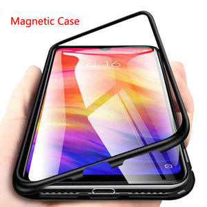 Tempered-Glass-Case Coque Back-Cover Metal Magnetic Pocophone F1 Note 8 Xiaomi Redmi