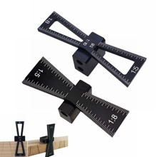 Маркер ласточкин хвост Алюминиевый сплав ласточкин хвост маркировочный шаблон 1:5& 1:8 деревянный шарнир Калибр со шкалой ласточкин хвост направляющие инструменты