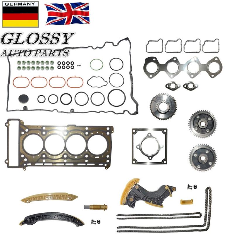 Fit Mercedes C230 W203 M271 1.8L Camshaft Timing Chain Kit Valve Cover Gasket