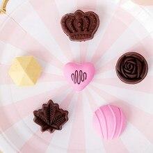 Gommes en caoutchouc en forme de chocolat pour enfants, papeterie mignonne et créative, cadeau pour enfants, 6 pièces/lot