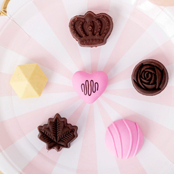 6pcs/lot Creative Chocolate Shaped Rubber Eraser  For Kids Lovely Cute Stationery Children Gift