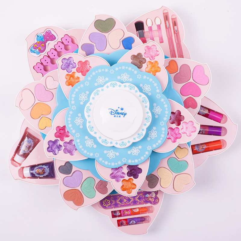 Disney Genuine Frozen Children's Cosmetics Set Princess Makeup Box Non Toxic Girl's Birthday Gift Toys