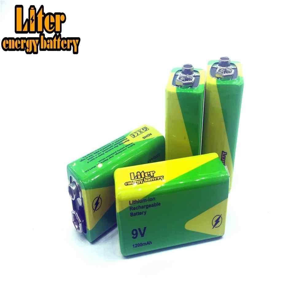 1/2/4x4.8x2.6x1.7 سنتيمتر ni-mh بطارية 9 فولت 1200 مللي أمبير عمر طويل تبديل البطارية 9 فولت 1200 مللي أمبير أجهزة كشف الدخان الإنذارات اللعب Bateria