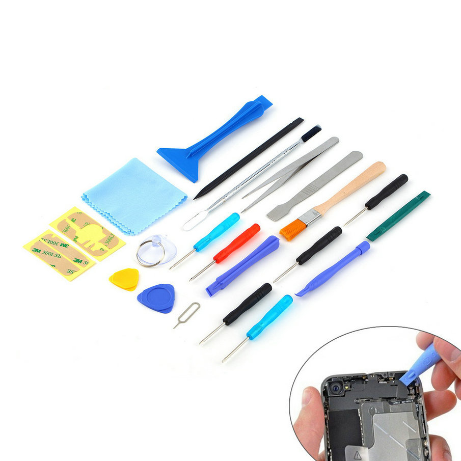 2017 Hot Worldwide 22 In 1 Open Pry Mobile Phone Repair Screwdrivers Sucker Hand Tools Set Kit For Cell Phone Tablet