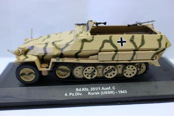 цена на Altaya 1/43 Scale Sd. kfz. 251/1 Ausf. c 4.pz div kursk 1943 Tank Diecast for collection