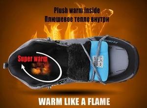 Image 5 - Markowe męskie buty zimowe męskie buty śnieżne zimowa ciepła skórzana wodoodporne trampki sportowe męskie oddychające buty trekingowe obuwie robocze