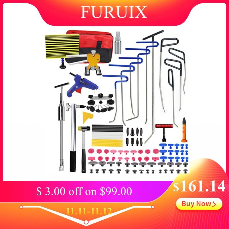 FURUIX PDR Tools Hooks Spring Steel Push Rods Dent Removal Car Dent Repair Car Body Repair Kit Paintless Dent Repair Tool Kit