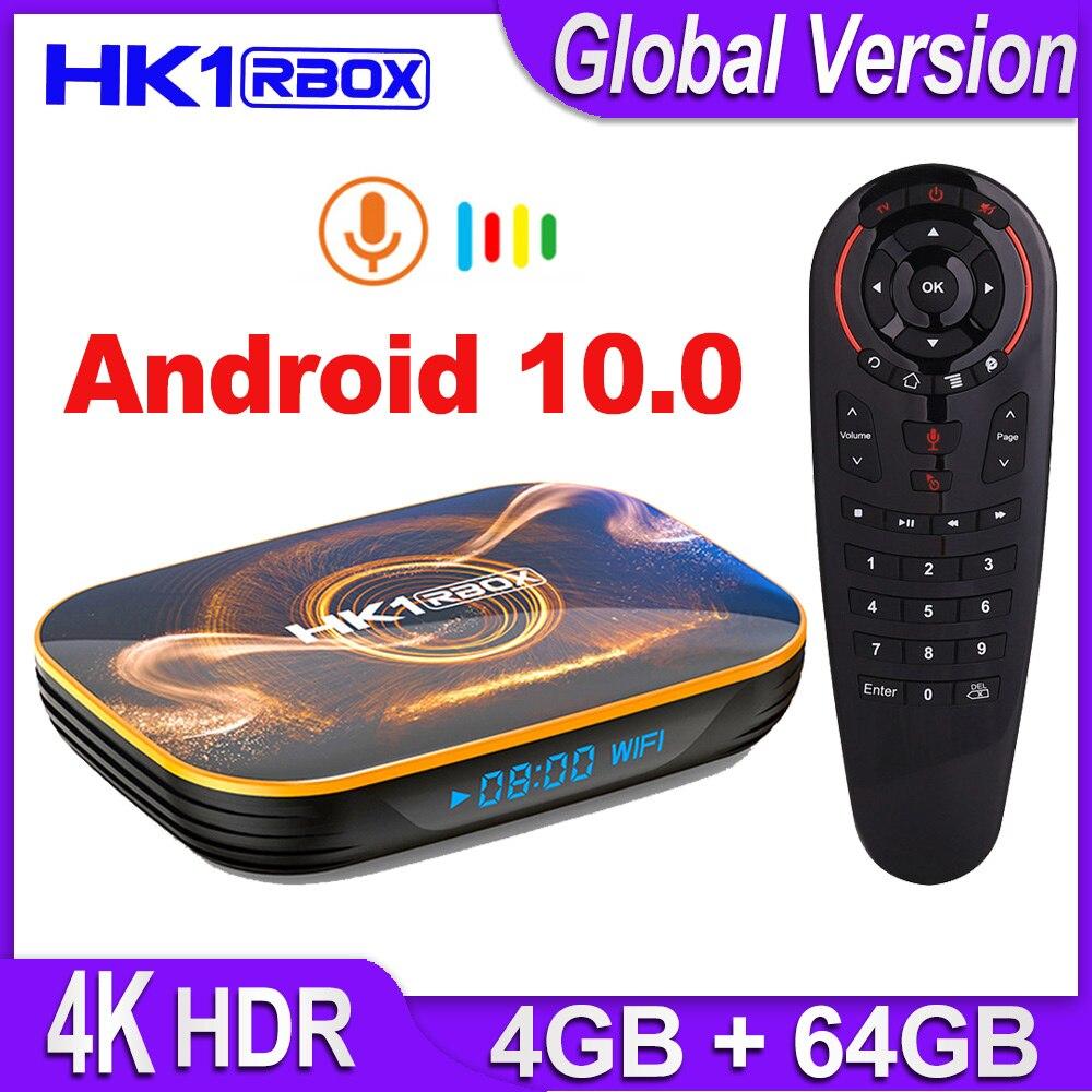 VONTAR HK1 R1 TV Box Android 10 4GB 64GB Android 10.0 Smart TV BOX Rockchip RK3318 4K 60fps USB3.0 Google Play Netflix Youtube