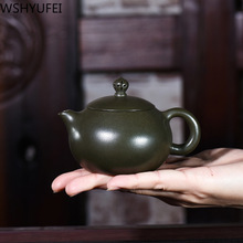 WSHYUFEI Yixing czajniczek zisha xishi dzbanek na herbatę surowa ruda Azure mud wysokiej klasy zestaw do herbaty handmade purpurowa glina czajnik piłka otwór filtr 150ml tanie tanio 150 ml Fioletowy gliny